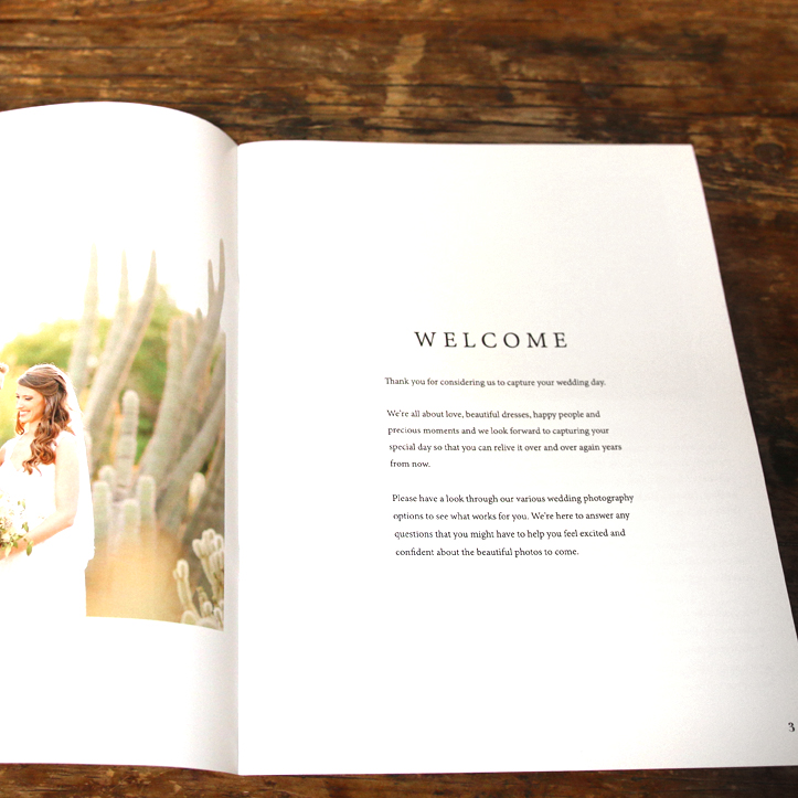 Weddings Welcome Guide - Welcome Text