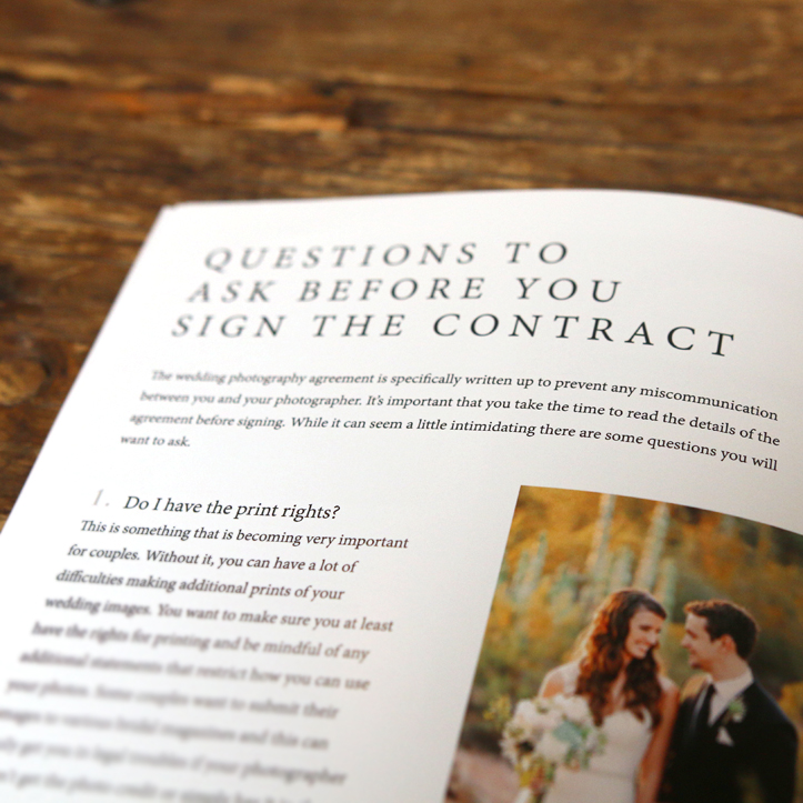 Weddings Welcome Guide - Questions to Ask Before You Sign the Contract