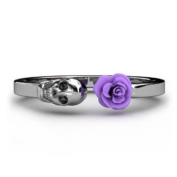 Purple Punk Rock Skull Rings