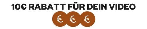 Erhalte 10€ Rabatt für dein kurzes Video