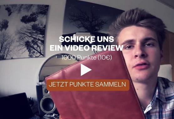 Schicke uns ein kurzes Videoreview uns sammle 1000 Punkte (10€)