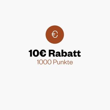 10 € Rabatt für 1000 Punkte