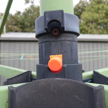 Broken Mounting with Orange Latch Hills Folding Rotary