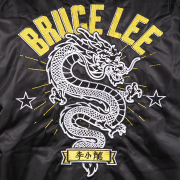 Bruce Lee Dragon Bomber Jacket | Embroidery Details