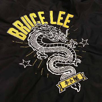 Bruce Lee The Dragon Bomber Jacket Back Design