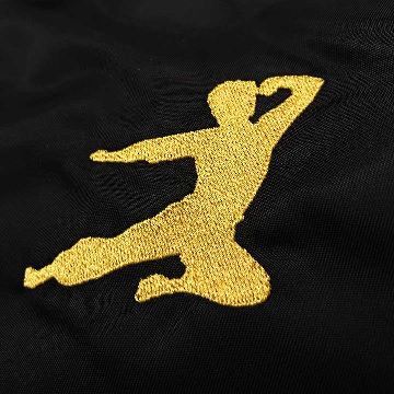 Embroidered Bruce Lee Flying Man Left Breast Of Bomber Jacket