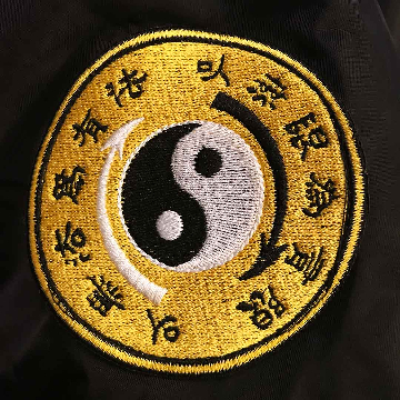 Core Symbol Patch On Right Arm Of Dragon Bomber Jacket