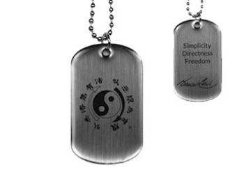 Bruce Lee's Core Symbol Dog Tag | Simplicity, Directness, Freedom | Bruce Lee Famous Quote