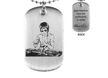 Bruce Lee x DJ Dragon Dog Tags | Brushed Silver | Seek Freedom From The Conformity Of Styles | QuoteBruce Lee x DJ Dragon Dog Tags | Brushed Silver | Seek Freedom From The Conformity Of Styles | Quote