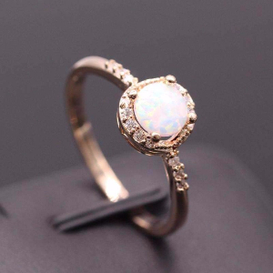 White Opal Local Mix Ring