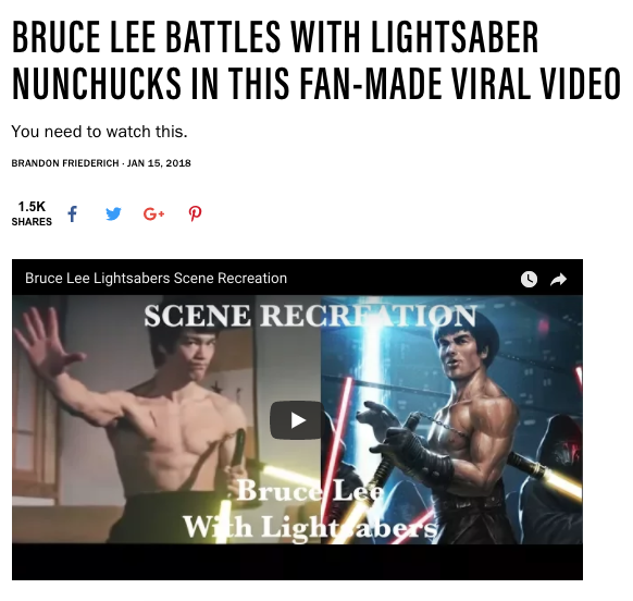 Maxim Covers Bruce Lee Lightsaber Viral Video