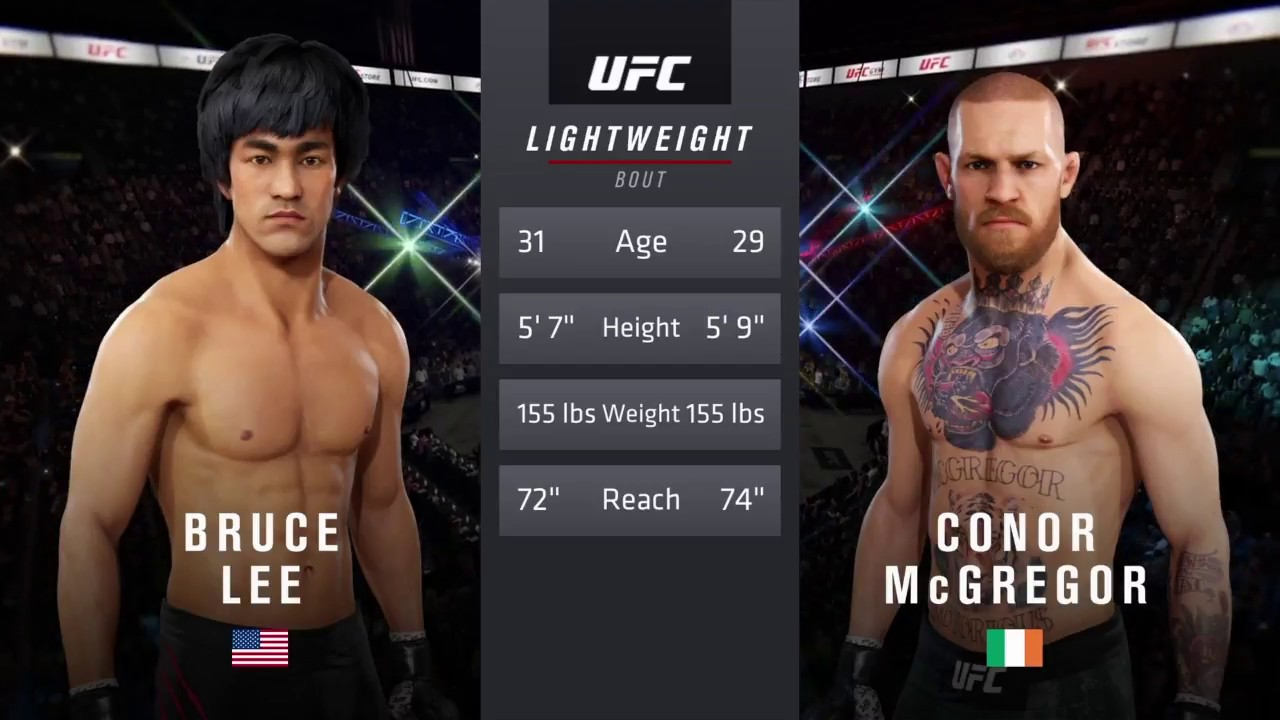 Conor McGregor vs. Bruce Lee In EA Sports UFC 3