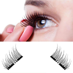 4 Pcs Reusable Magnetic False Eyelashes