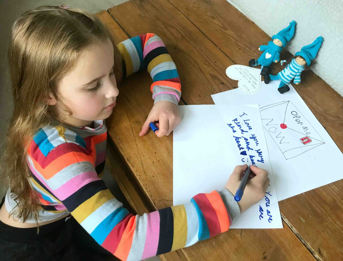 Writing with the Kindness Elves