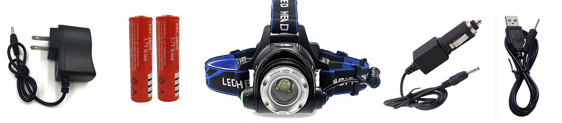 Complete LED Headlamp Torch Kit