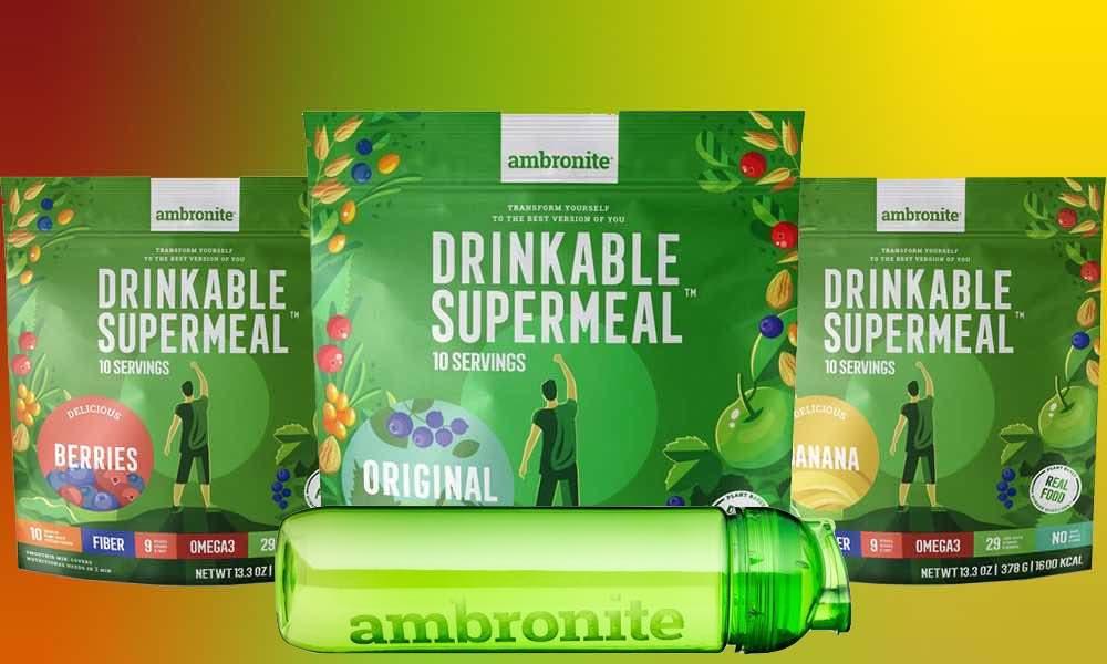 Ambronite 3 flavor bundle with shaker