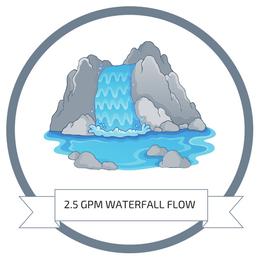 2.5 Gallon Per Minute Waterfall Rainfall Flow