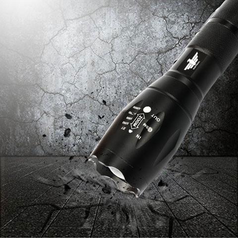 LAMPE TORCHE TACTIQUE XM-L T6 1800 LUMENS DE PUISSANCE