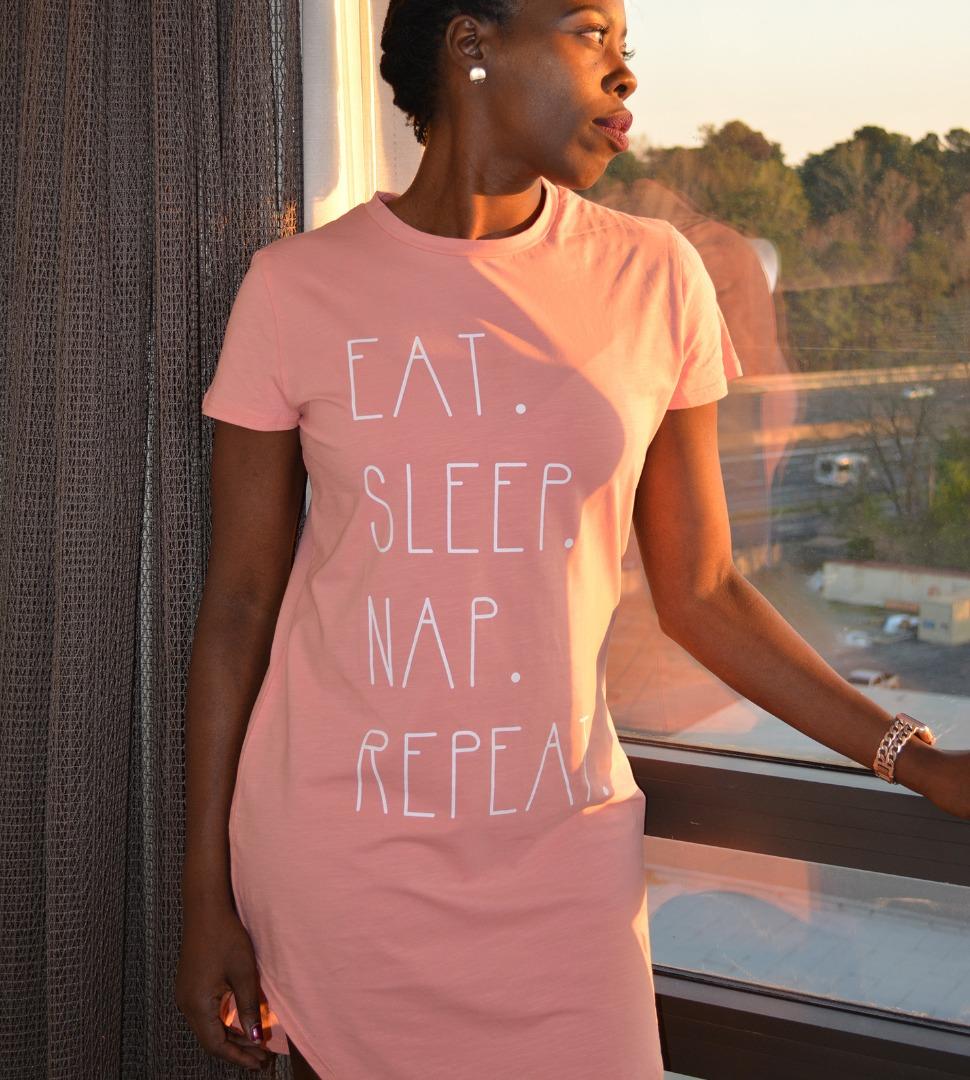 Eat. Sleep. Nap. Repeat. Night Dress