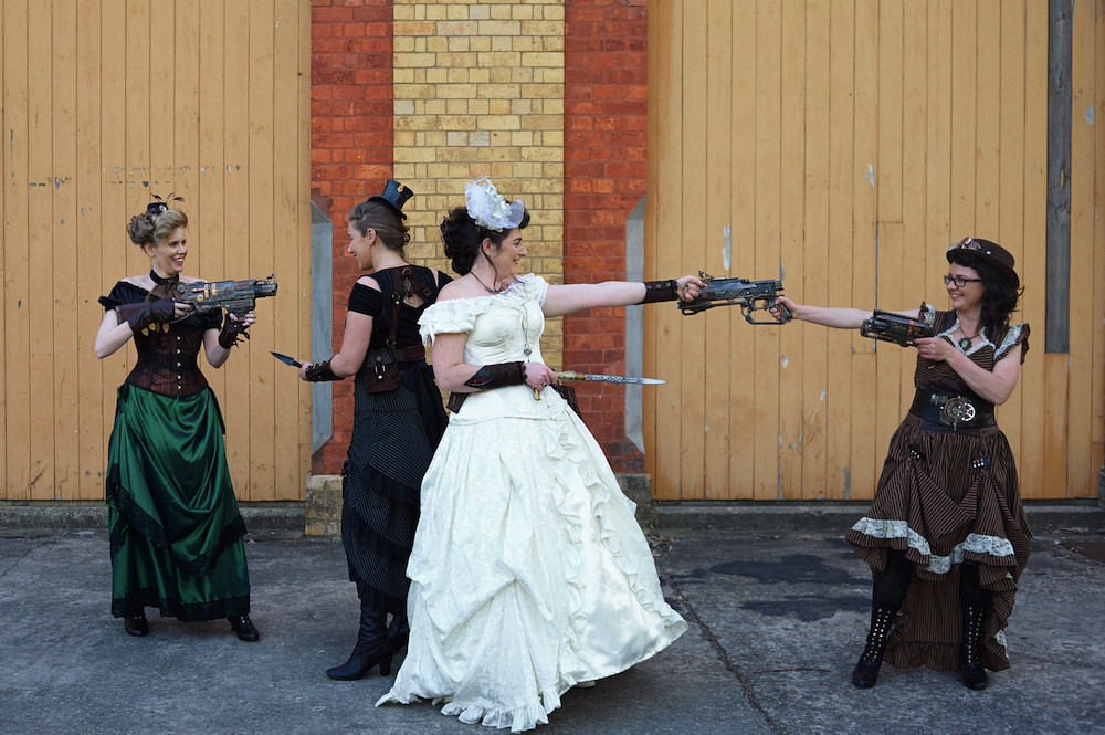 creating your dream steampunk wedding can be the most fun you've ever had