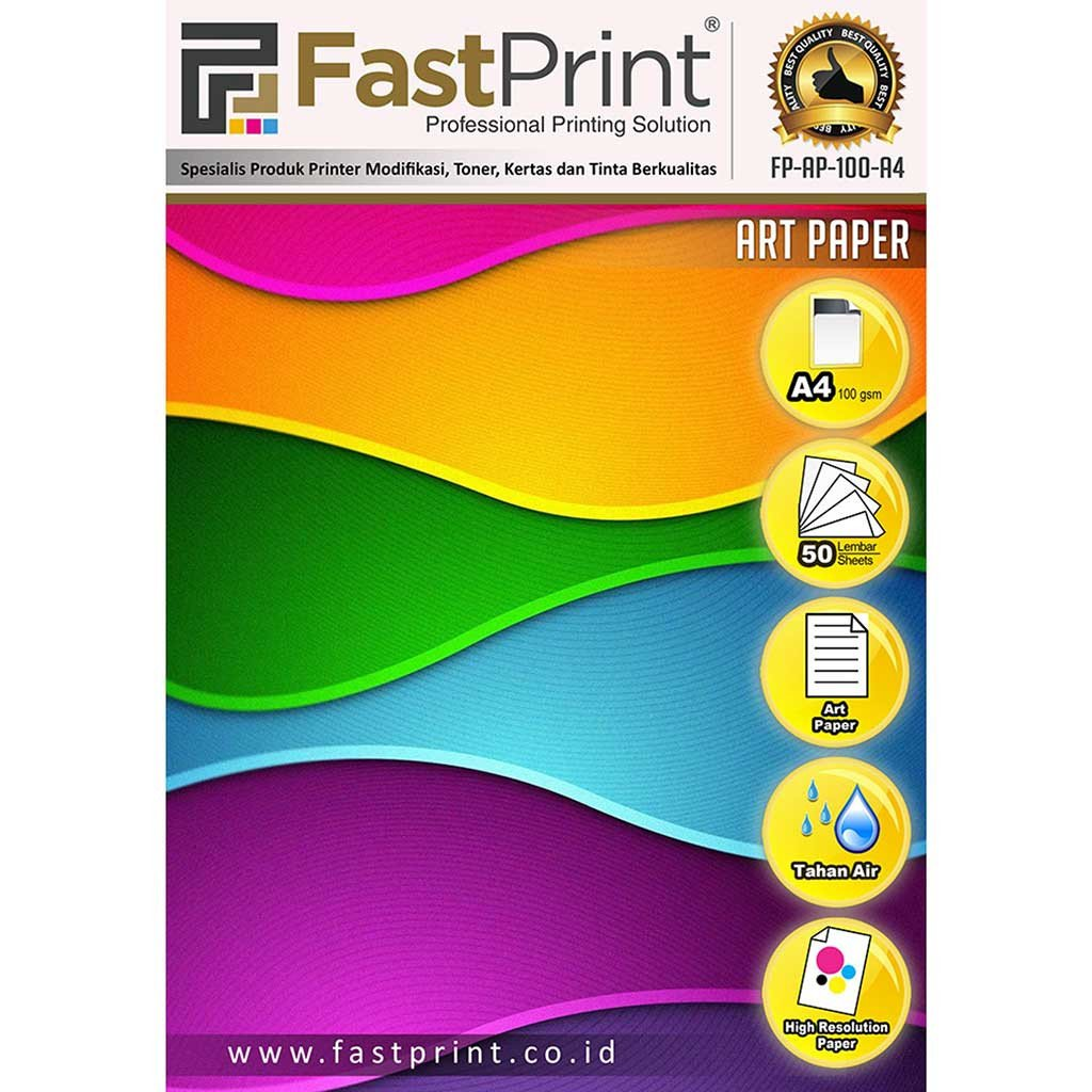 Kertas Art Paper fast Print Ukuran A4