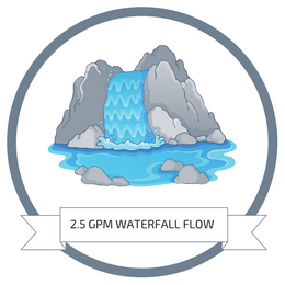 2.5 Gallon Per Minute Waterfall Rainfall Flow