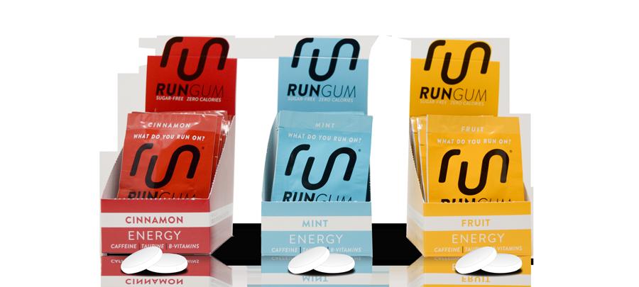 Caffeine Chewing Gum | Gum with Caffeine | Run Gum® Energy Gum