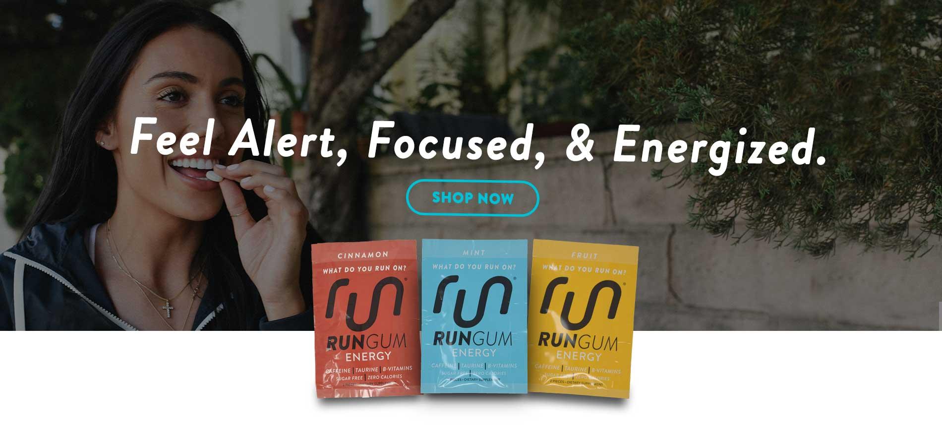 Gum with caffeine for running