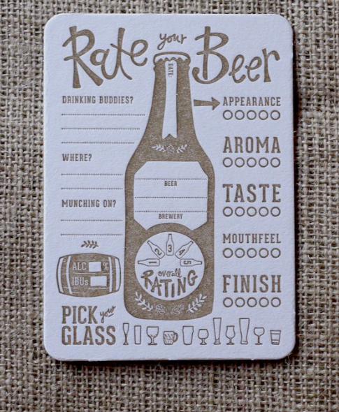 beer voting coaster