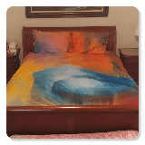 Abstract Bluebird Queen Full Bedding Set