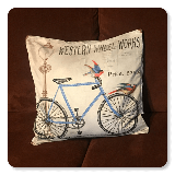 Western Wheels Works Bicycle Pillow