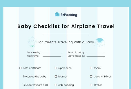 Free flying with a baby checklist