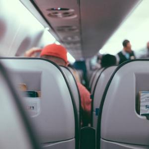 Plane full of passengers
