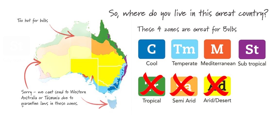 Choose your Garden Zone in Australia