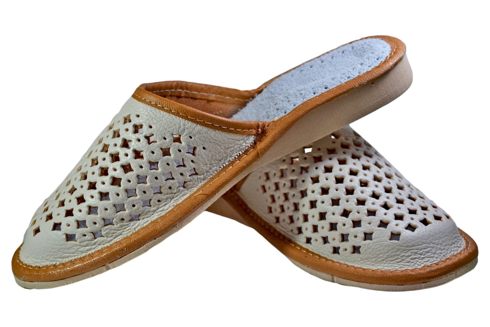 Ladies Handmade Leather Slippers