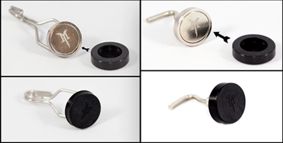 Protective rubber magnetic caps for neodymium hook magnets 1 inch