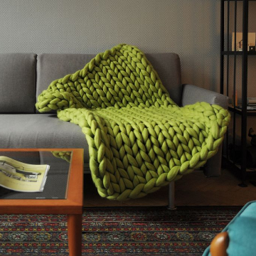 Small Chunky Knit Throw