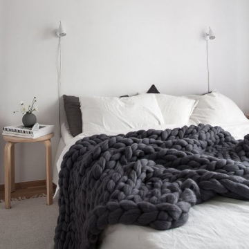 Large Chunky Knit Throw