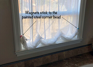 TwistieMag Magnetic Bathroom Curtain Tie Backs