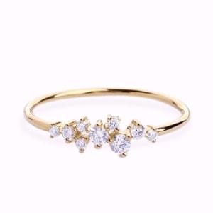 Sasha Sparkle Dainty 18K Gold Vermeil Ring