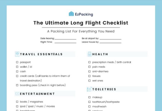 the ultimate long flight packing list you only need