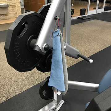 SportMag Magnetic Gym Towel On Gym Equipment