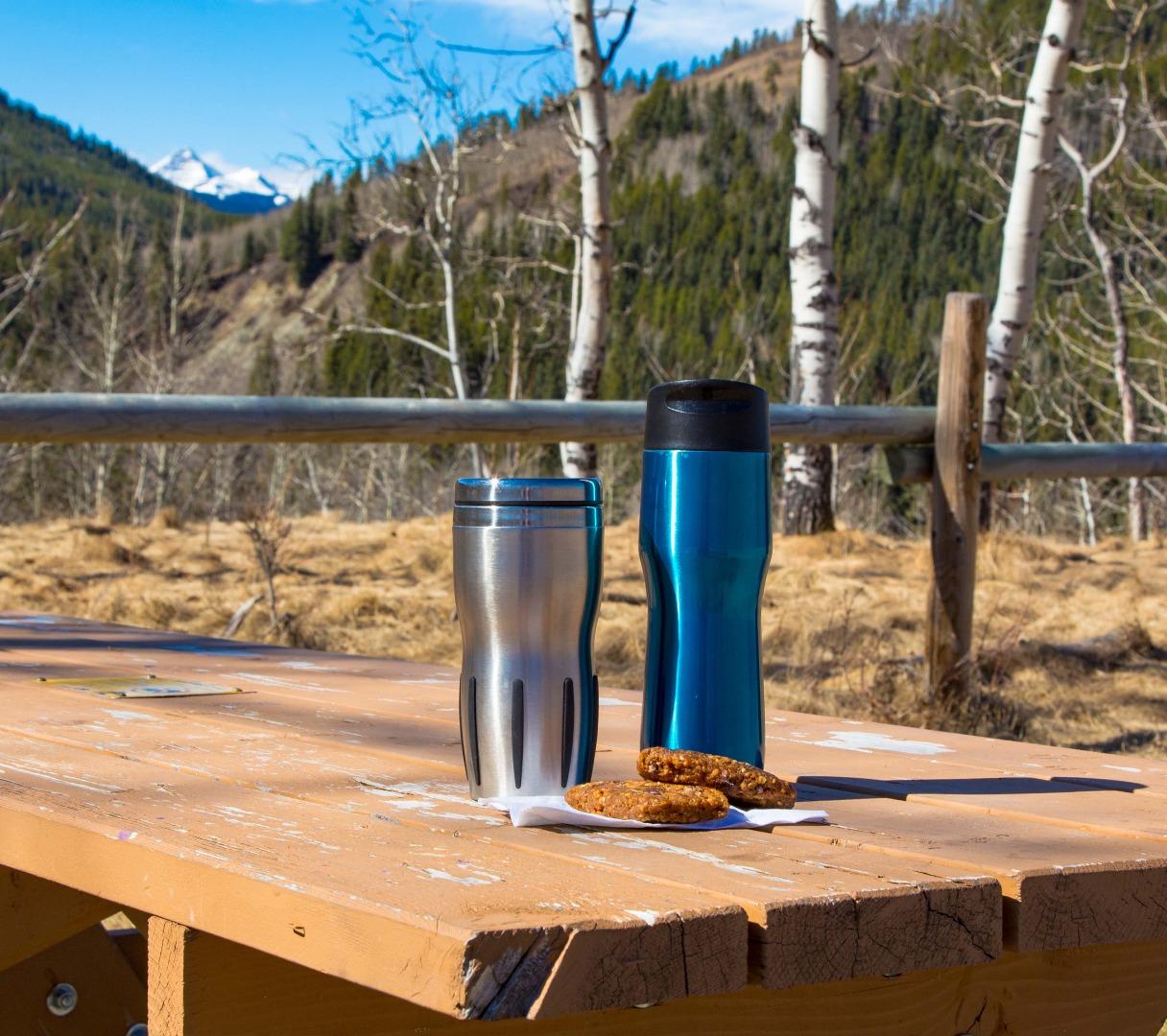 Reusable coffee mugs