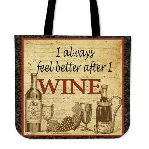 Custom Printed Wine Tote Bag