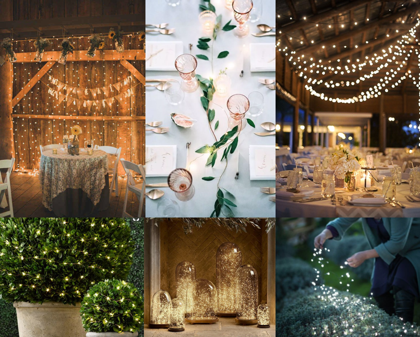 fairy star lights wedding