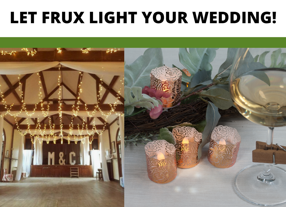 let frux light your wedding