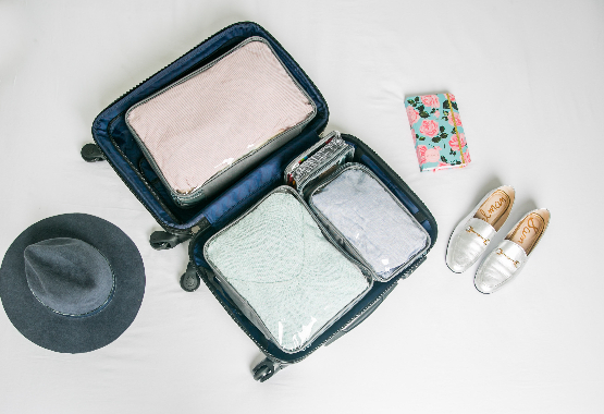 an organized suitcase