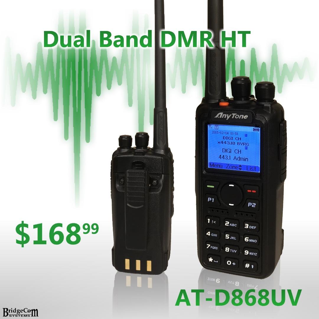 AT-D868UV 2m VHF/UHF 70cm DMR Analog Radio