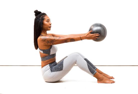 pilates ball in class