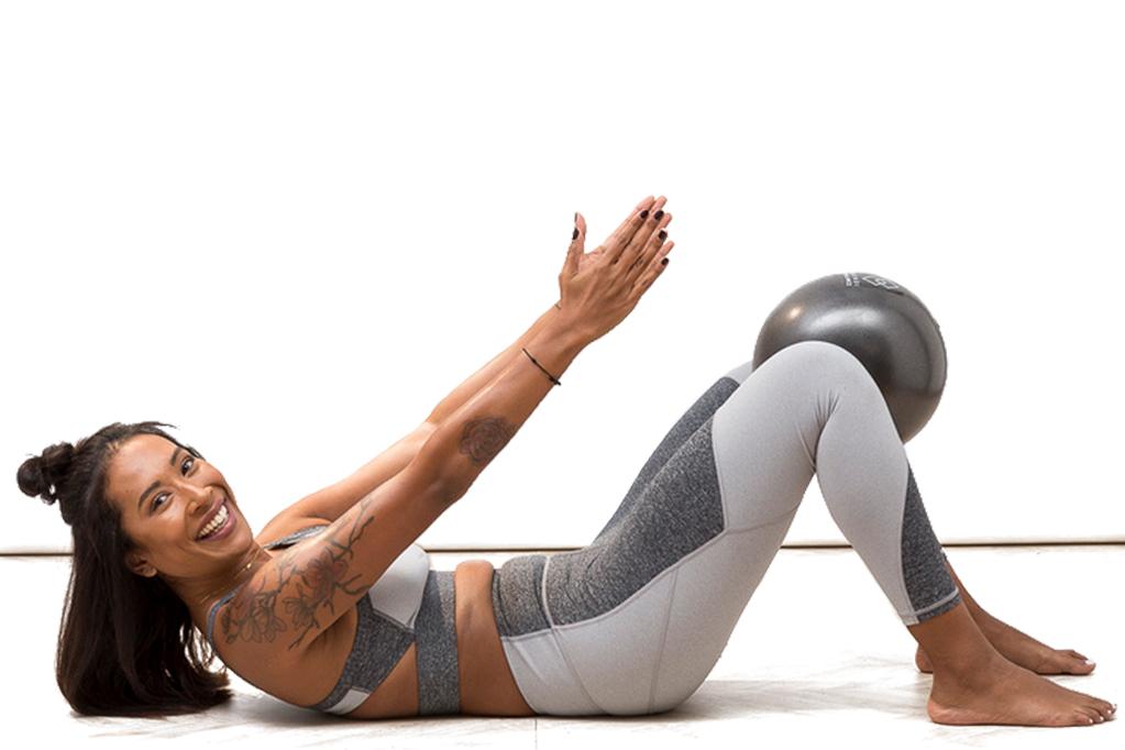 pilates ball curl up
